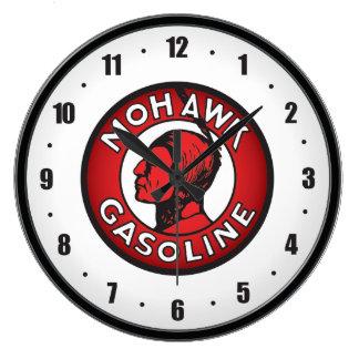 Mohikaner-Vintage Gas-Uhr Große Wanduhr