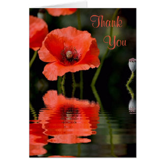 Mohnblume danken Ihnen zu kardieren Karte