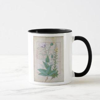 Mohnblume und Figwort Tasse
