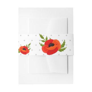 Mohnblumen-Blumen Einladungsbanderole