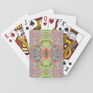 Mohnblumen-Blumen-Fraktal-Spielkarten Spielkarten