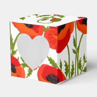 Mohnblumen-Blumen Geschenkschachtel
