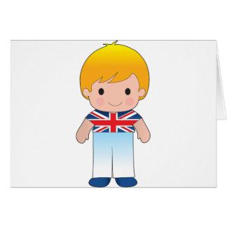 Mohnblumen-Briten-Junge Karte
