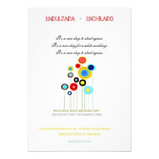 Mohnblumen der Hochzeits-Einladungs-2013 Ankündigungskarten