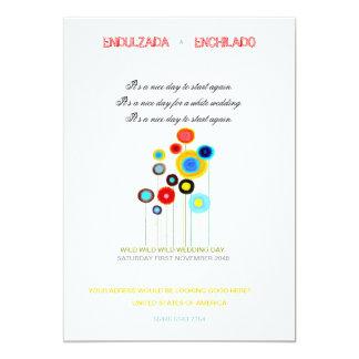Mohnblumen der Hochzeits-Einladungs-2013 12,7 X 17,8 Cm Einladungskarte