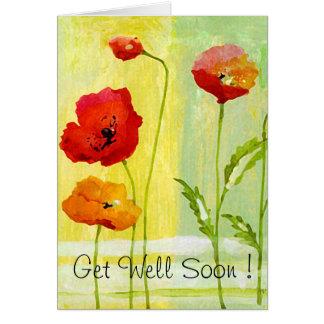 Mohnblumen - erhalten Sie gut bald! Grußkarte