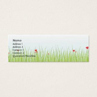 Mohnblumen-Feld - dünn Mini Visitenkarte