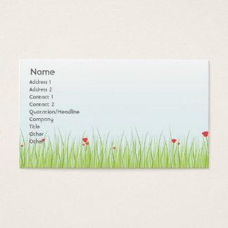 Mohnblumen-Feld - Geschäft Visitenkarte