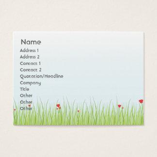 Mohnblumen-Feld - mollig Visitenkarte