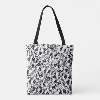Mohnblumen-Feld-Schwarzes Tasche