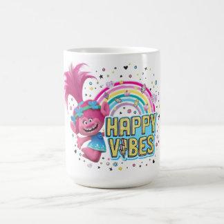 Mohnblumen-glückliche Schwingungen der Kaffeetasse