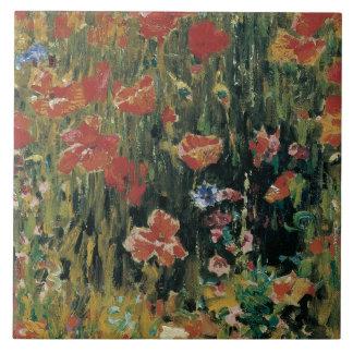 Mohnblumen Große Quadratische Fliese