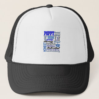 Mohnblumen-Großvater-Vatertags-Papa-Papaya Truckerkappe