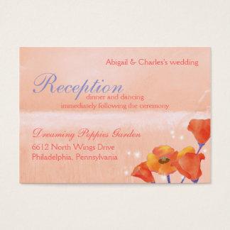 Mohnblumen-Hochzeits-Empfang oder Register Visitenkarte