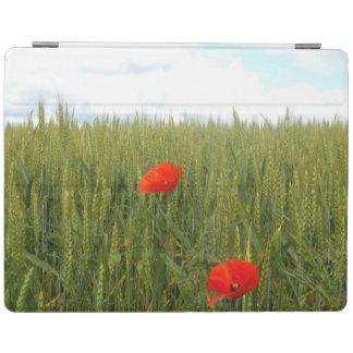 Mohnblumen in einer Weizen-Feld iPad Abdeckung iPad Smart Cover