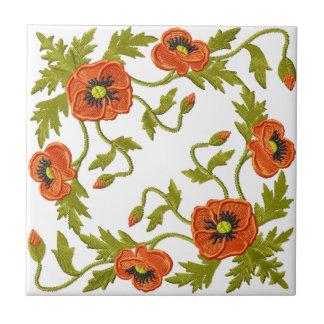 Mohnblumen-Keramik-Fliese Kleine Quadratische Fliese