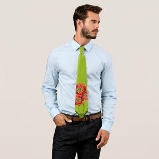 Mohnblumen-Krawatte für Hochzeiten und besondere Individuelle Krawatte
