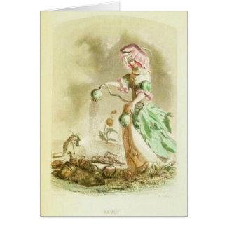 Mohnblumen-Mädchen Karte