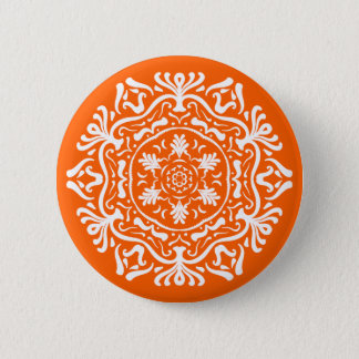 Mohnblumen-Mandala Runder Button 5,1 Cm
