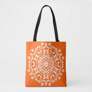 Mohnblumen-Mandala Tasche