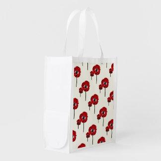 Mohnblumen-Mutter und Kind Wiederverwendbare Einkaufstasche
