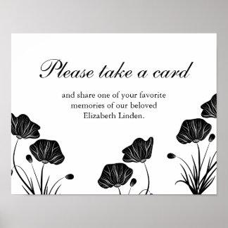 Mohnblumen - nehmen Sie eine Karte - Poster