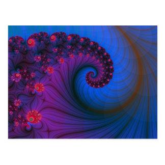 Mohnblumen-Reihen-Turbulenz-Postkarte