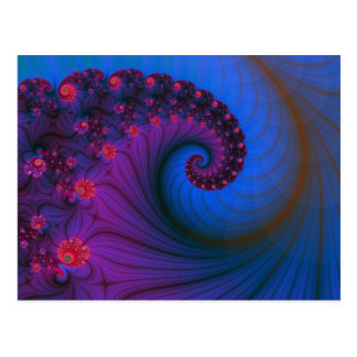 Mohnblumen-Reihen-Turbulenz-Postkarte Postkarte