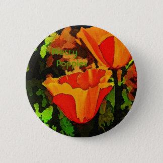 Mohnblumen Runder Button 5,1 Cm