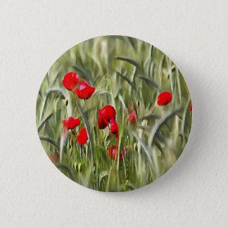 Mohnblumen Runder Button 5,7 Cm