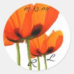 Mohnblumen! Runder Sticker