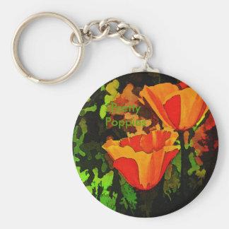 Mohnblumen Schlüsselanhänger