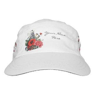 Mohnblumen-und Fingerhut-Blumenstrauß Headsweats Kappe