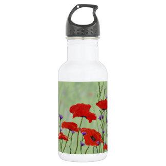 Mohnblumen und Junggeselle-Knöpfe Edelstahlflasche