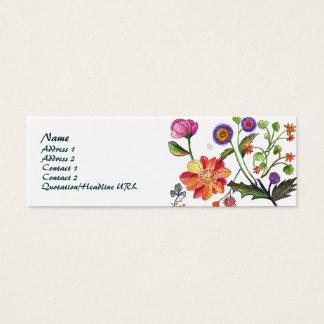 Mohnblumen-und Rose Visitenkarte-Nr. 2 Mini-Visitenkarten