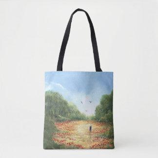 Mohnblumenfeld Taschentasche Tasche