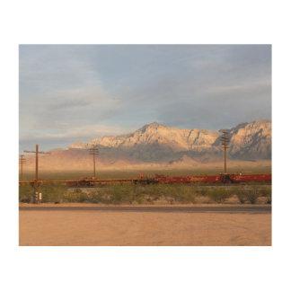 Mojave-nationale Konserve Kalifornien Holzdruck