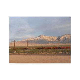 Mojave-nationale Konserve Kalifornien Holzposter