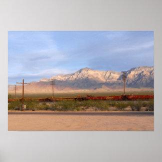 Mojave-nationale Konserve Kalifornien Poster
