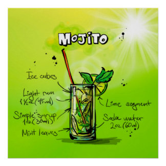 Mojito Cocktail-Plakat Poster