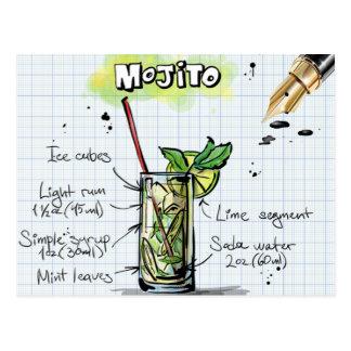 Mojito Rezept - Cocktail-Geschenk Postkarte