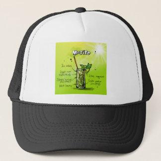 Mojito Rezept - Cocktail-Geschenk Truckerkappe