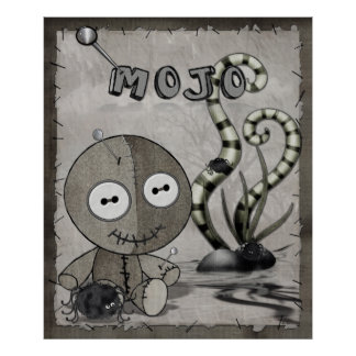MOJO gotische Voodoo-Puppen-Volkskunst Poster