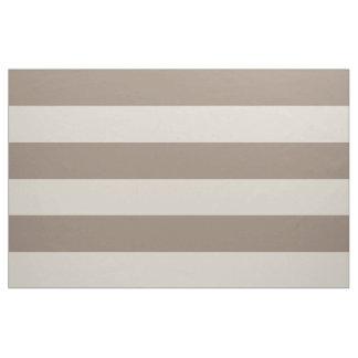 Mokka Brown und beige breiter Streifen-großer Stoff