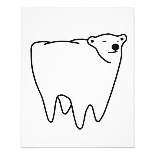 Molarer Bärn-polarer Zahn-Bär Individuelle Flyer