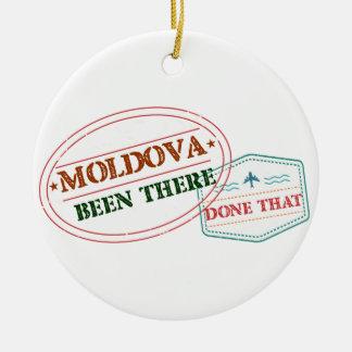 Moldau dort getan dem rundes keramik ornament
