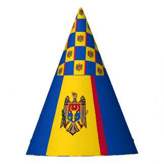 Moldau-Flagge Partyhütchen