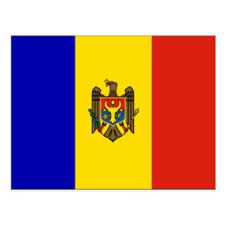 Moldau-Flagge Postkarte