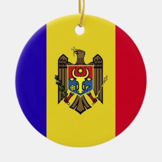 Moldau-Flagge Rundes Keramik Ornament