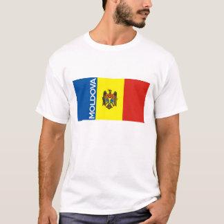 Moldau-Landesflaggetextname T-Shirt